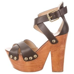 AUTHENTIC Giuseppe Zanotti Leather Platform Sandal